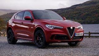 2019 Alfa Romeo Stelvio Quadrifoglio   Competizione Red   Driving, Interior, Exterior (UK Spec)