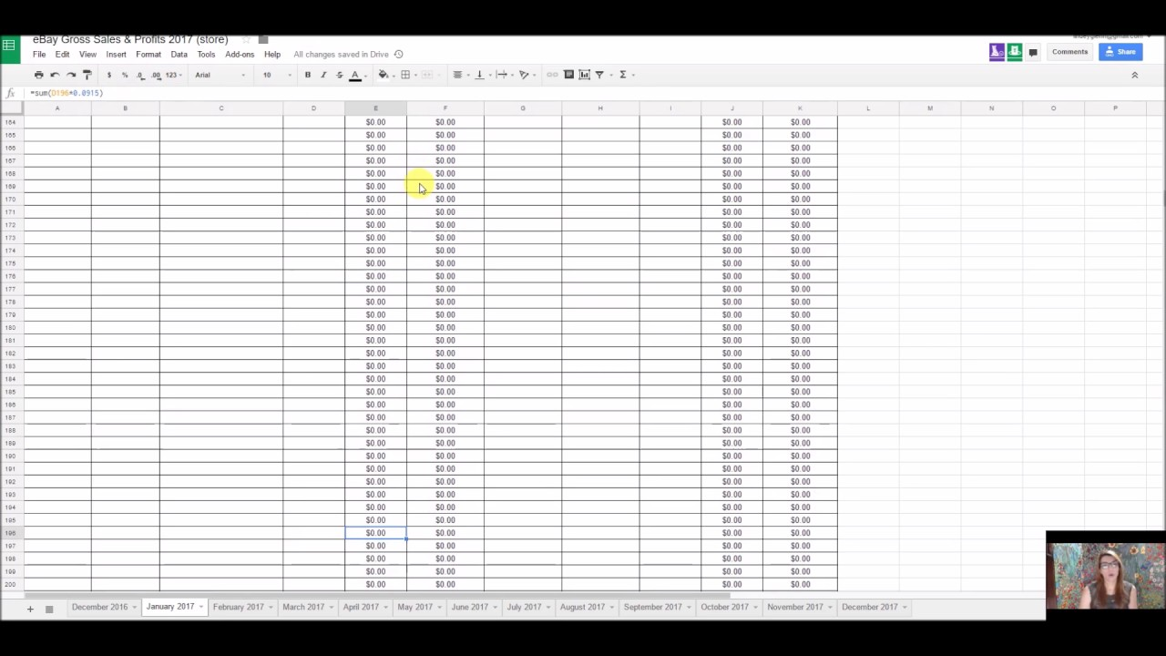 How To Update Your Google Spreadsheet For Ebay Profits