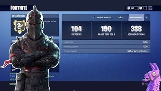 MY STATISTICS AND INVENTORY IN FORTNITE, (200 WINS) I HAVE THE BEST SKIN OF THE GAME