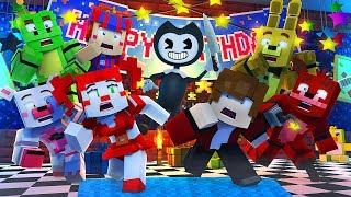 Minecraft FNAF 6 Pizzeria Simulator HIDE AND SEEK - BENDY VISITS THE PIZZERIA! (Minecraft Roleplay)
