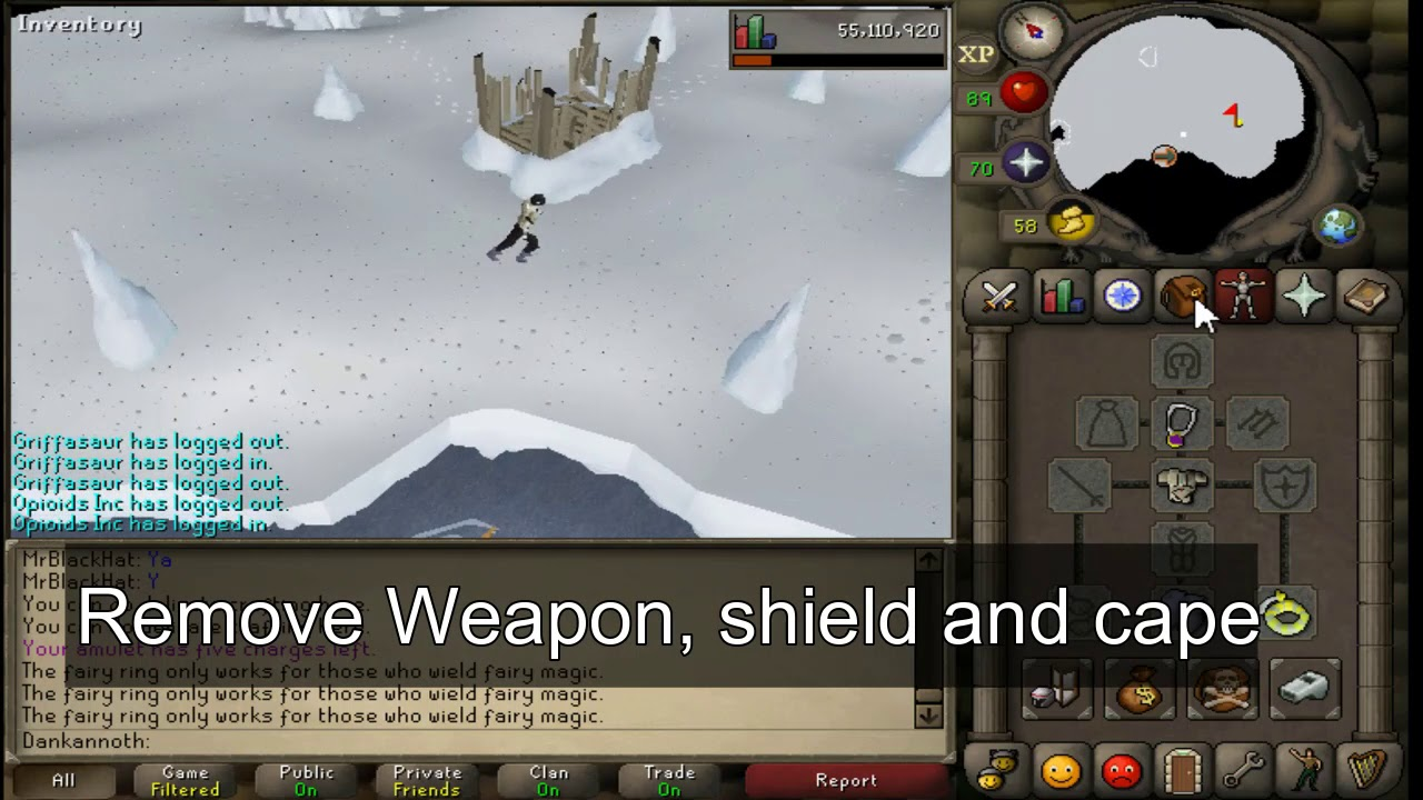 2 musical birds  Dig in front of the spinning light  (OSRS Master clue)