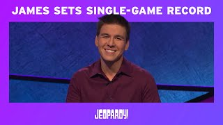 James Holzhauer Sets Single-Game Record   JEOPARDY!