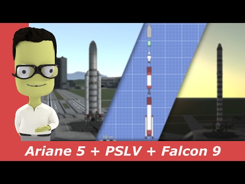 SpaceX Falcon 9, PSLV-XL and Ariane 5 Launch   kNews W.07/2017