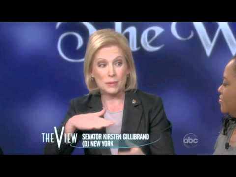 Senator Kirsten Gillibrand talks about marriage equality on The View