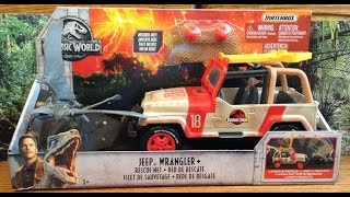 Jurassic world fallen Kingdom Jeep Wrangler Toy Review