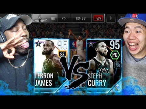 LEBRON vs CURRY 95 OVR PLATINUM CAPTAINS IN ALL-STAR GAME ft DHITMAN137! NBA Live Mobile 18 Ep. 35