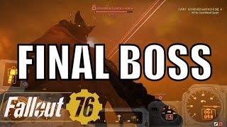 Fallout 76 Final Boss:  Insane High Level Event Scorched Earth - Scorchbeast Queen Quest
