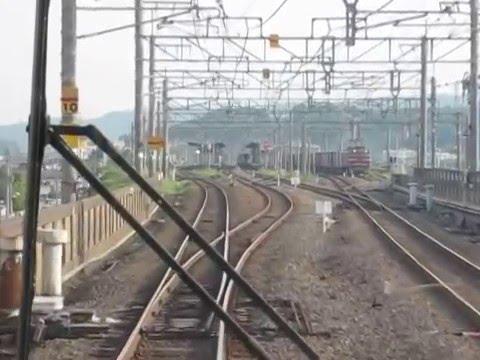 JR West Kosei Line Omi Shiotsu ~ Kyoto 223 Series Führerstandsmitfahrt 湖西線 快速 前面展望 近江塩津~京都 JR西日本223系