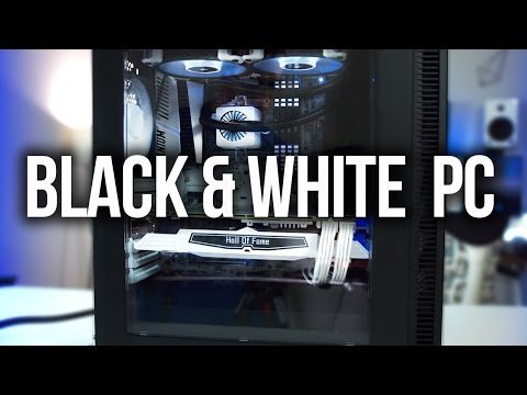 Awesome Black & White Gaming PC Build!