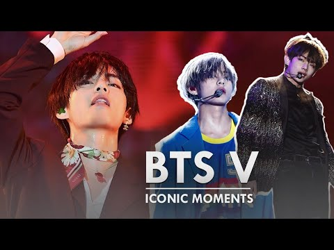 BTS V ICONIC MOMENTS ON STAGE