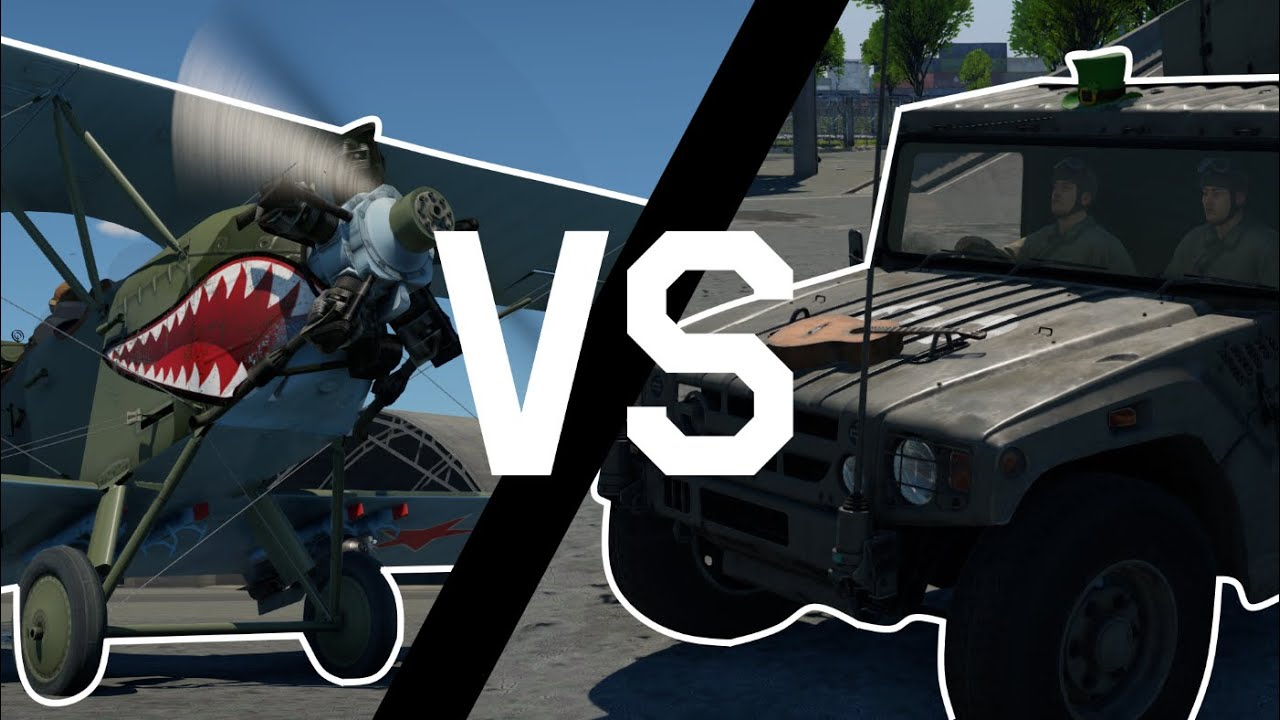 FASTEST CAR VS SLOWEST PLANE (War Thunder)