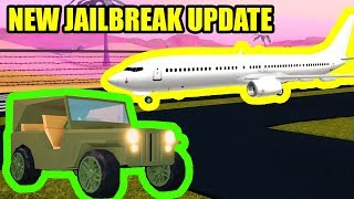 NEW ESCAPE, MILITARY JEEP, and PLANES?? Coming to Jailbreak... | Roblox Jailbreak Update