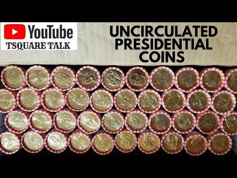 PRESIDENTIAL DOLLAR SET, Uncirculated Rolls