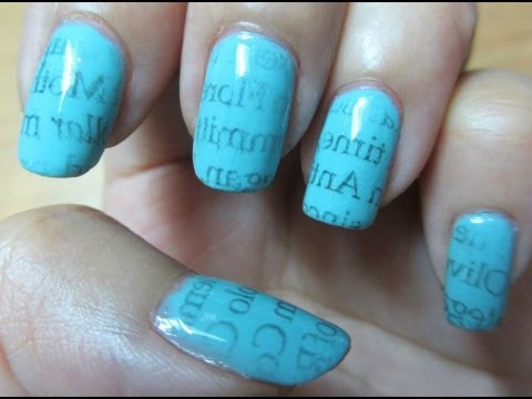Newspaper nail art using water realasianbeauty youtube newspaper nail art using water realasianbeauty prinsesfo Image collections
