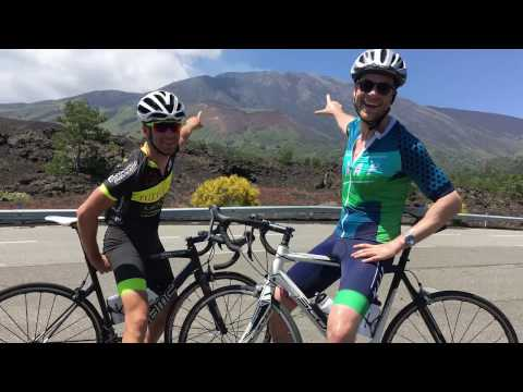 Hamish Blake takes on Mount Etna. By bike.