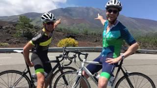 Hamish Blake takes on Mount Etna. By bike.