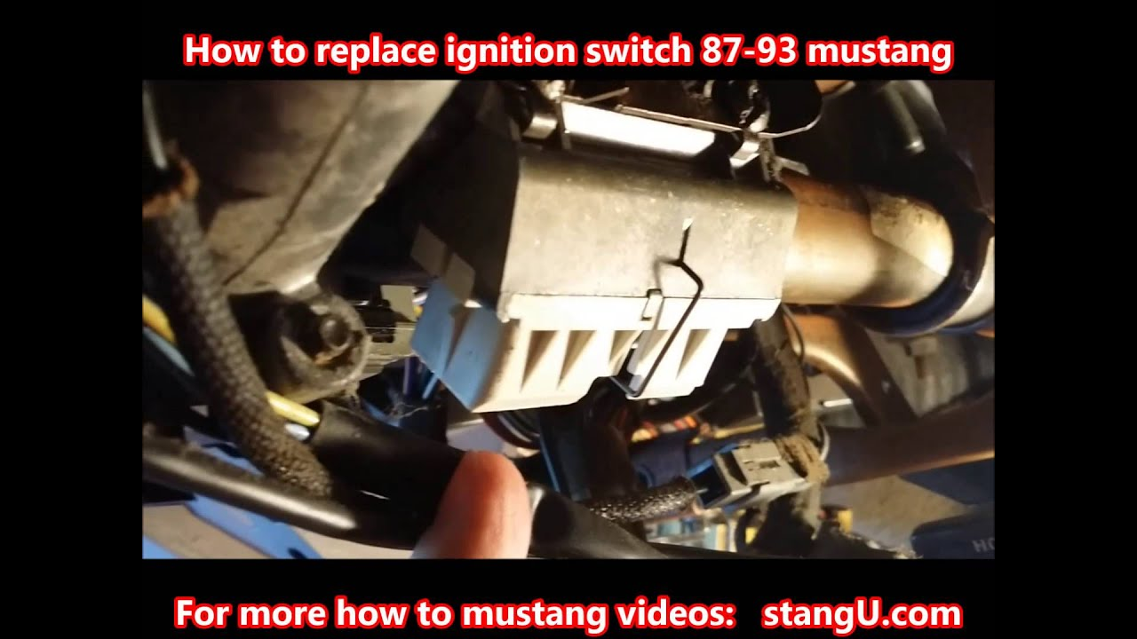 1987 1993 ford mustang ignition switch install how too [ 1280 x 720 Pixel ]