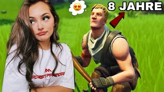 8 year old NO SKIN tries to IMPRESS my SCHWARM and what happened..! 🤬 (Fortnite)