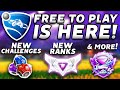 Rocket League FREE TO PLAY Is Here! New Challenges, Ranks & More!