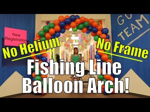 How to Make a Balloon Arch WITHOUT Helium or Frame – Fishing Line Balloon Arch | TuTu Ep 44