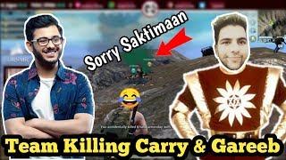 Team Killing Carryislive & Gareeboo in Pubg Mobile 😂 Sorry Saktiman w DaddyCool