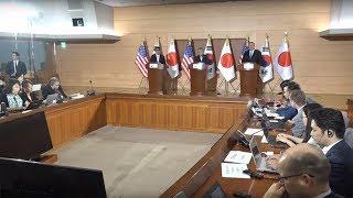 [라이브 모파] 한미일 외교장관회담 공동기자회견(한국어 통역)