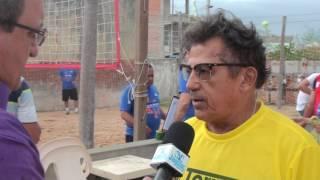 Manoel Moura representante do SESC ressalta a importância do esporte vôlei de praia