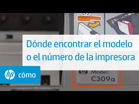 Dónde encontrar el modelo o el número de la impresora | Impresoras HP | HP