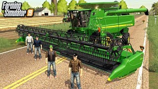 FARMERS COME TOGETHER TO HELP HARVEST WHEAT (ROLEPLAY) | FARMING SIMULATOR 2019