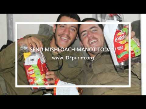IDF Purim Project   Mishloach Manot Campaign   Chayal el Chayal Lone Soldiers