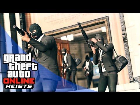 GTA 5 HEIST GAMEPLAY - ORNATE BANK HEIST!! (GTA 5 Pacific Standard Bank Heist)