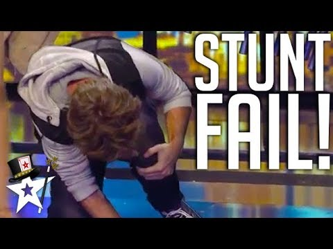 Magic Stunt Gone Wrong! | ČESKO SLOVENSKO MÁ TALENT | Magicians Got Talent
