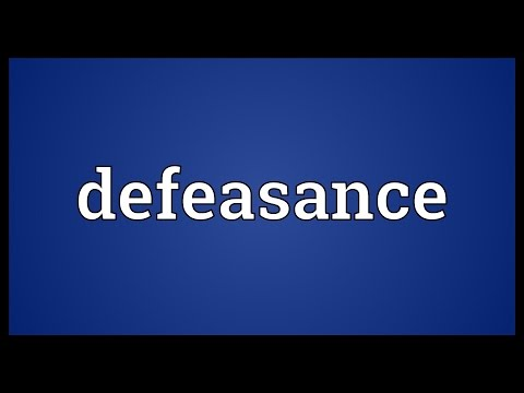 Defeasance Meaning