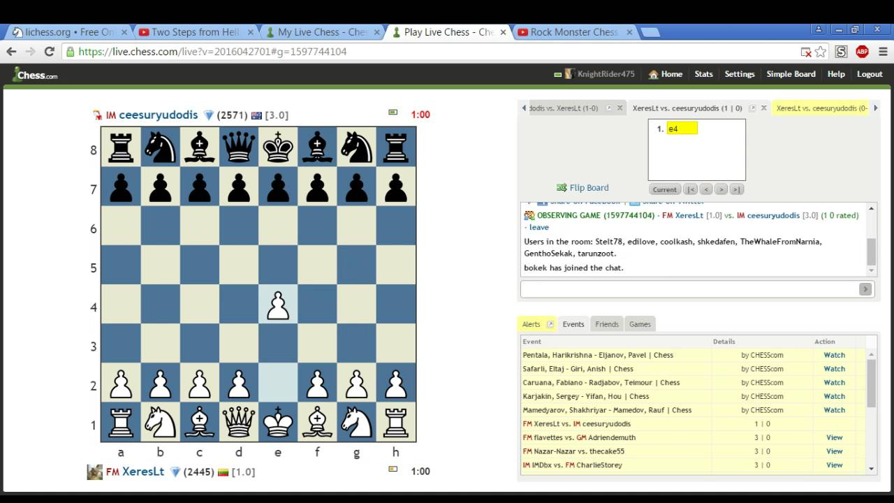 Bullet Chess #5 - IM ceesuryudodis vs FM XeresLt on Chess com