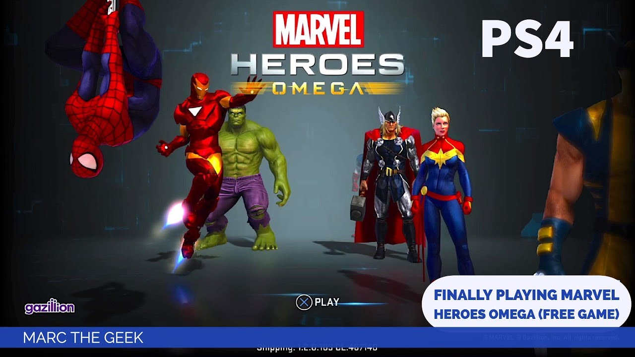 PS4: Finally Playing Marvel Heroes Omega (Free Game)