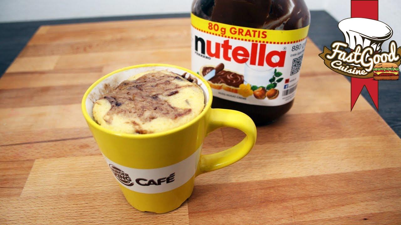 Recette de gateau nature avec du nutella