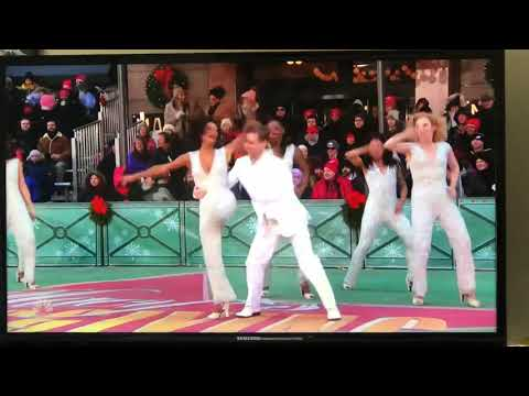 Cast of Donna Summer the Musical performing Hot Stuff in The Macy's Thanksgiving Parade 2018