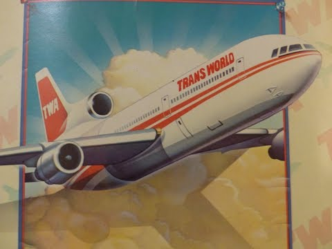 TWA Lockheed L-1011 takeoff  (exterior & interior) & flight PHX to STL 1991