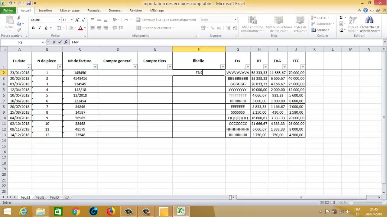 Importation des écritures comptable de Excel vers Sage 100 ...