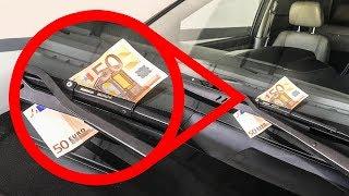 Wenn du Geld auf deiner Windschutzscheibe siehst, bist du in Gefahr!