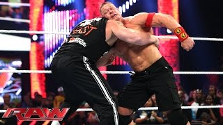 John Cena and Brock Lesnar brawl before Night of Champions: Raw, Sept. 15, 2014