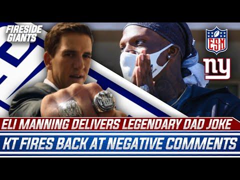 Eli Manning Drops LEGENDARY Dad Joke   Kadarius Toney FIRES Back At Negative Fans   New York Giants
