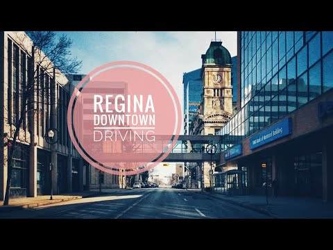 Driving Downtown-Regina, Saskatchewan, Canada