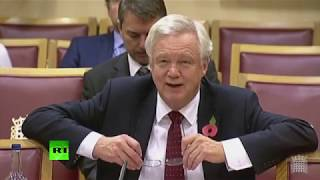 LIVE: David Davis faces questions from Lords about Brexit negotiations