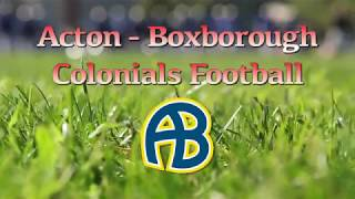 Colonials Football week 11 @ Westford 11/23/17