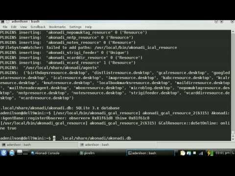 amp (akonadi mobile port): using sqlite (32KB) X mysql (160MB) as datastore