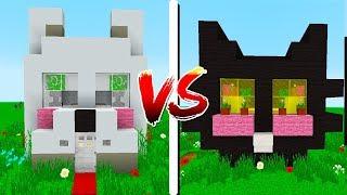 CASA GATO vs CASA CACHORRO! - Minecraft Casa vs Casa