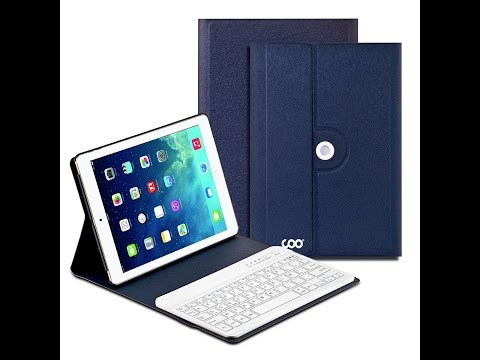 Coque Étui De Protection IPad Air 2 COO Clavier Français Bluetooth 360°Rotation