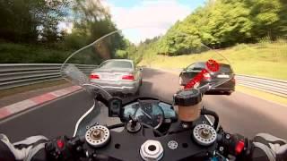 Fast ride R1 Nurburgring + crash