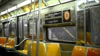 6th Avenue Fastrack: Round Trip On The Westinghouse R68 (D) Train